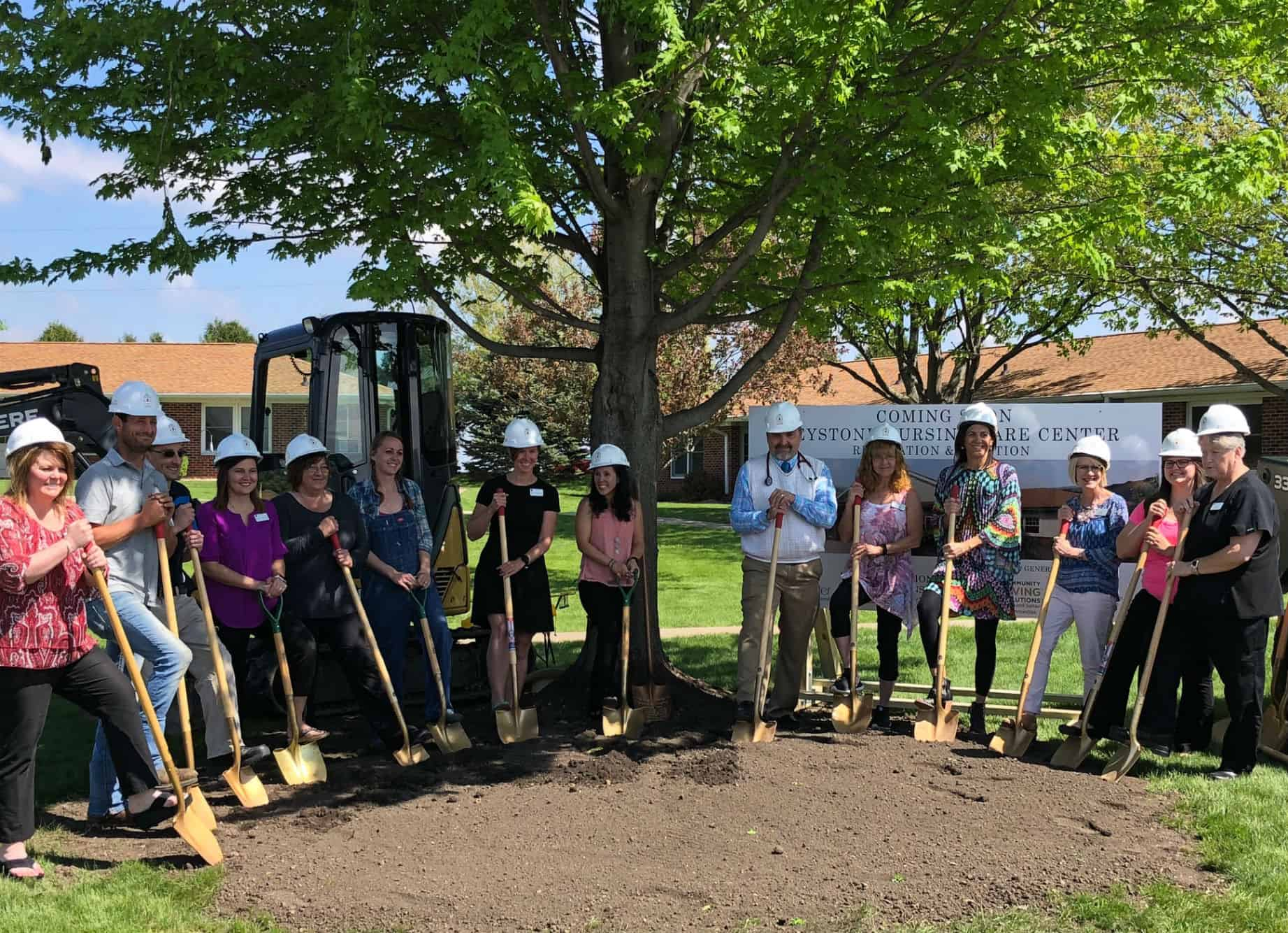 Keystone Care Center Groundbreaking, Keystone, Iowa